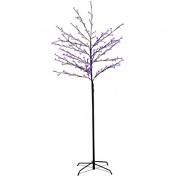 Arbre lumineux à LEDs Violet