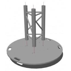 Location platine de sol lourde pour structure aluminium triangulaire PT29