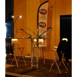 Location pupitre conferencier en aluminium - table direct radio, forum