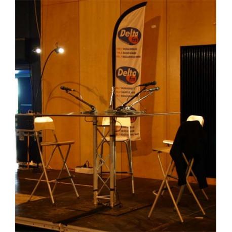 Location pupitre conferencier en aluminium - table direct radio, forum