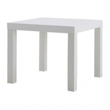 Location table basse carrée blanc laquée