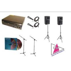 PACK KARAOKE 270 TITRES 300 watt Amplifié - jusqu'à 50/80 personnes.