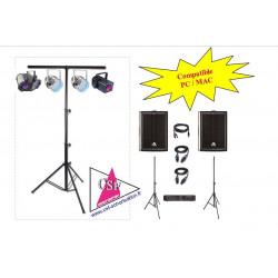 PACK SON 500 watt / LUMIERES EFFETS - Pour salle jusqu'à 150 personnes.