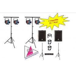 Location PACK SON 500watt / LUMIERES AMBIANCE - Pour une salle jusqu'à 80/100 personnes