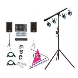 Location PACK SON 300 watt / LUMIERE AMBIANCE REGIE DOUBLE CD - Pour une salle jusqu'à 50/80 personnes