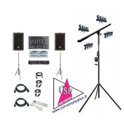 Location PACK SON 500 watt / LUMIERES AMBIANCE REGIE DOUBLE CD - Pour une salle jusqu'à 150 personnes