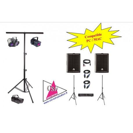 Location PACK SON 500 watt / LUMIERES EFFETS - Pour salle jusqu'à 150 personnes