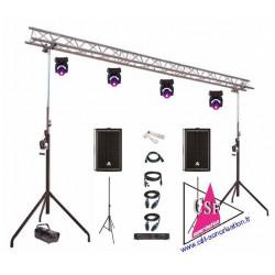 PACK SON 900 watt / LUMIERES EFFETS - Pour salle jusqu'à 300 personnes.