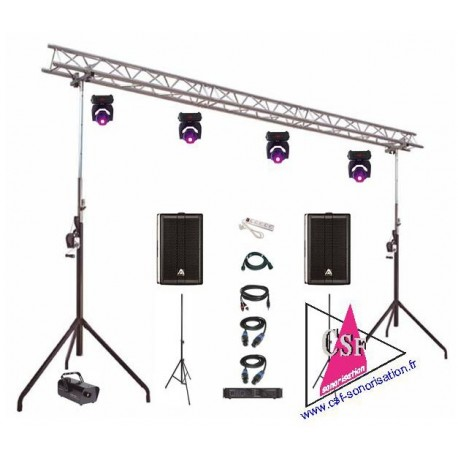 Location PACK SON 900 watt / LUMIERES EFFETS - Pour salle jusqu'à 300 personnes