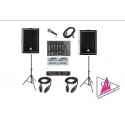 PACK SON 300 watt - REGIE DOUBLE CD - jusqu'à 50/80 personnes.