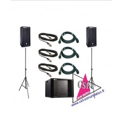 PACK SON 2000 watts - LIVE / DJ - jusqu'à 300 personnes.