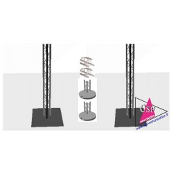 Location PACK 2 TOTEMS STRUCTURE TRIANGULAIRE HT 3M