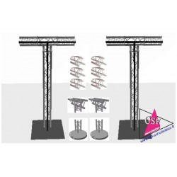 Location PACK 2 STRUCTURE T TRIANGULAIRE 1M70 HT 3M50