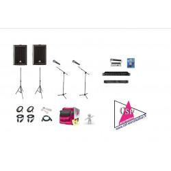 Location PACK CONVENTION 300 watt - avec TECHNICIEN - Pour Conférence, Salon, Séminaire, etc. jusqu'à 50/80 personn