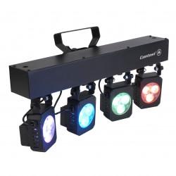 Rampe de 4 projecteurs changeur de couleurs TRI4U CONTEST