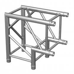 Location structure aluminium carréePTC29 angle 90° 2 directions